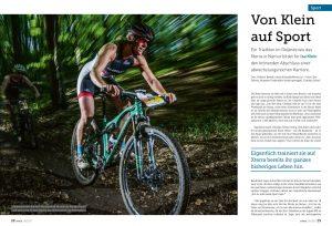 Frauen und auch nicht so viele Männer das Hinterrad von Isa Klein halten.